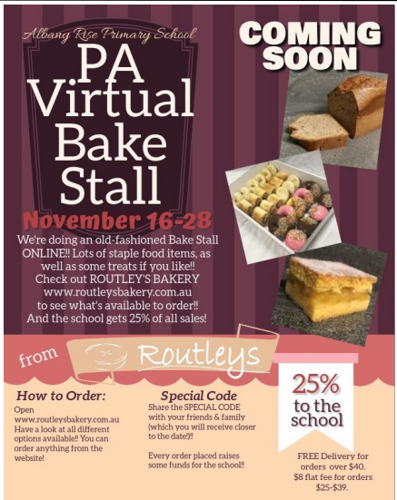 PA Virtual Bake Stall